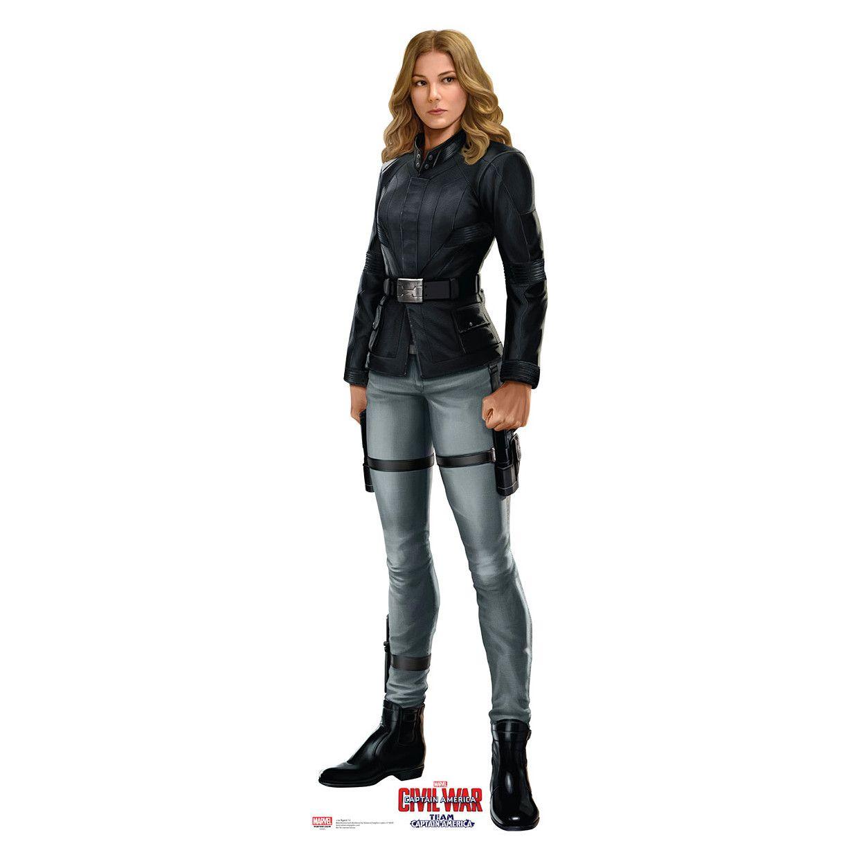 Civil war agent 13 cardboard cutout black agent 13