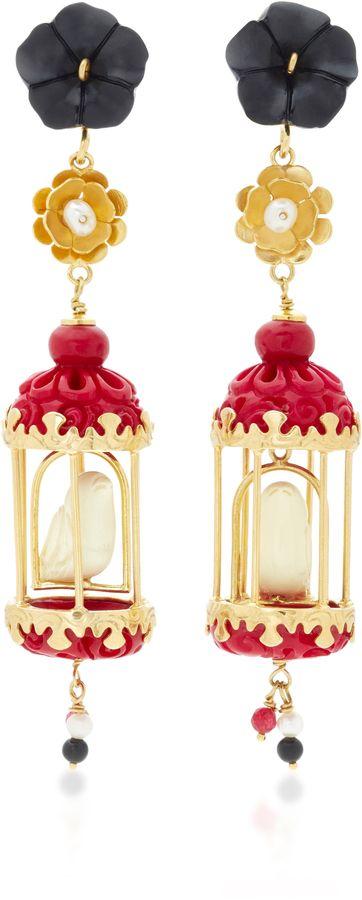 Aviary 18K Gold Multi-Stone Earrings Of Rare Origin PdqDnU3y
