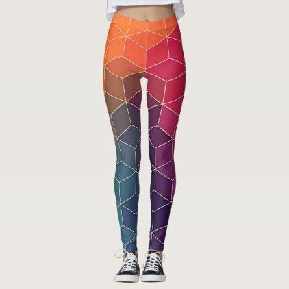 Geometric Pattern Leggings Fashion Pants