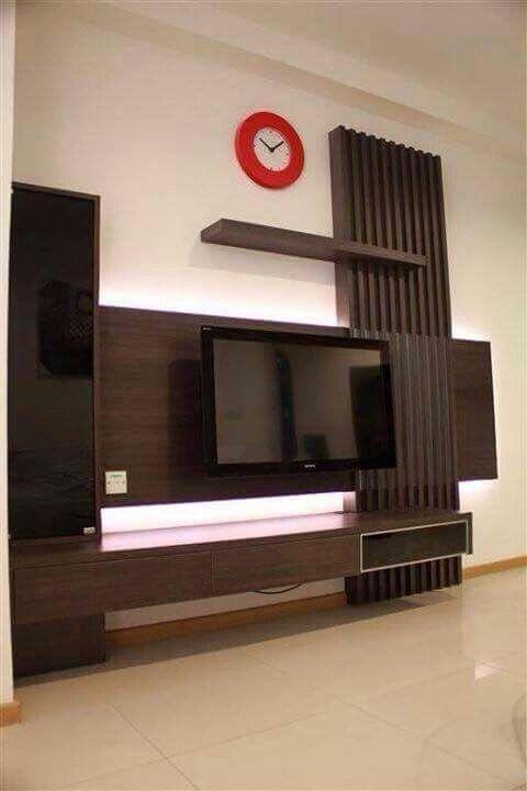 Pin By Rajak Interior On Tv Unit Modern Tv Wall Units Modern Tv