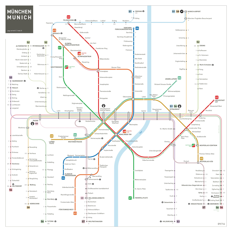 Munich Metro Map INAT Maps SubwayMetro Maps Pinterest Munich - Dusseldorf metro map