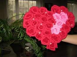 Kwiaty Z Bibuly Wloskiej Krepiny Serce Walentynki Necklace Jewelry Lei