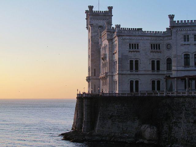 Castello di Miramare, Trieste, Friuli - Venezia Giulia. 45°42′08.84″N 13°42′44.16″E
