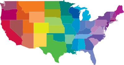 USA Map blank Political USA map with cities Quilting Pinterest