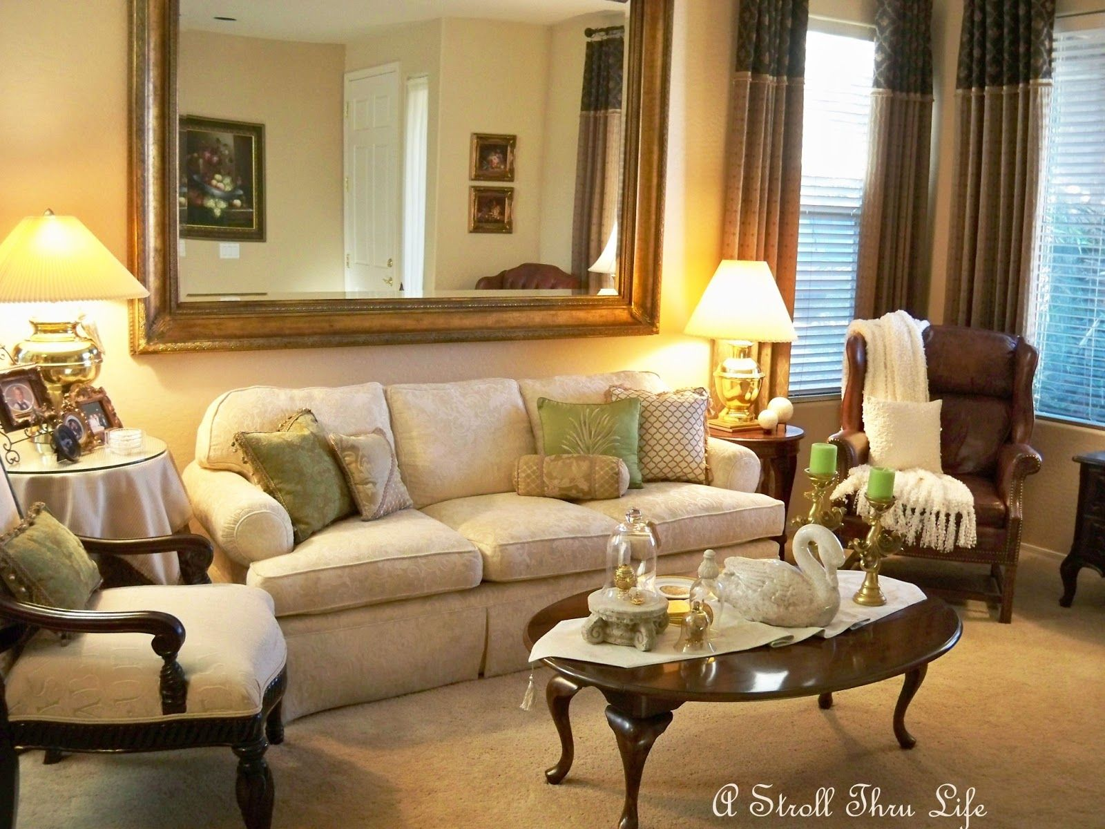 A Stroll Thru Life: Living Room   Act Two Apple Green