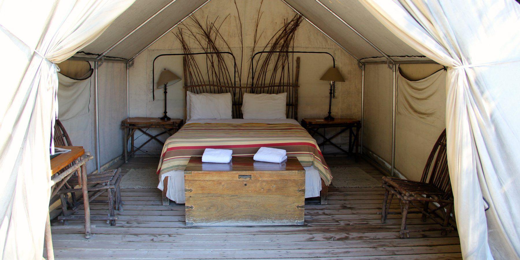 Safari tent interior.- El Capitan Canyon Nature Resort ...