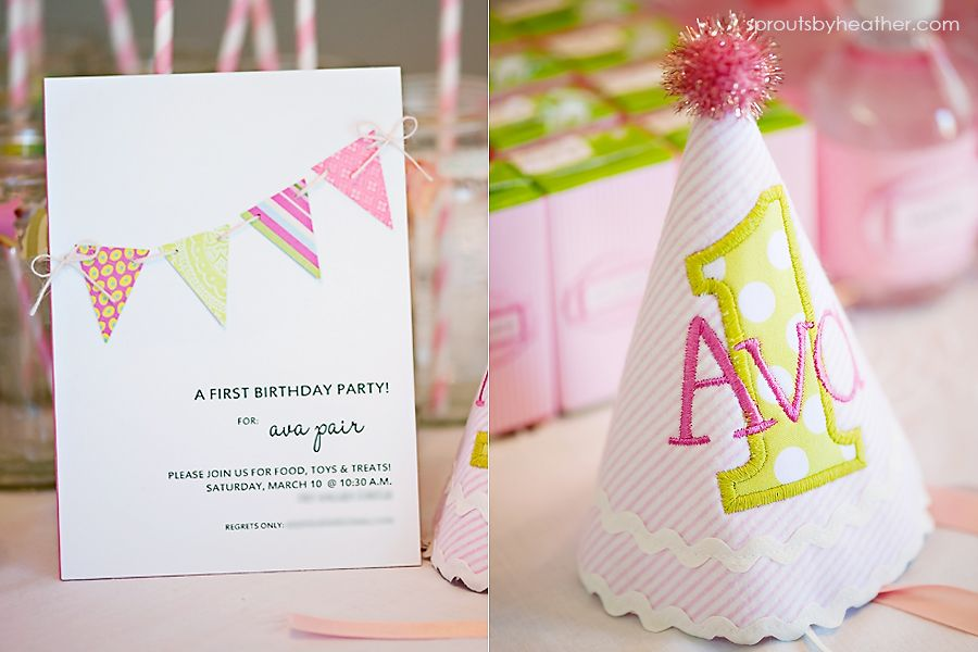 First birthday hat - Personalized keepsake from Dainty Couture! $25 ...