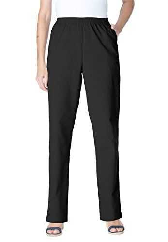 d4a72c4e90101 Only Necessities Womens Plus Size Pants In Calcutta Cloth Black26 W -- More  info could be found at the image url.