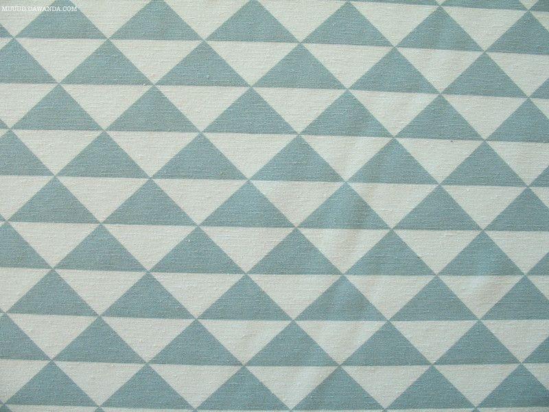 Stoff grafische Muster - Stoff Dekostoff mint altmint weiß - ein Designerstück von MUUUD bei DaWanda