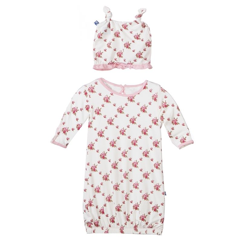 Natural KicKee Pants Layette Gown
