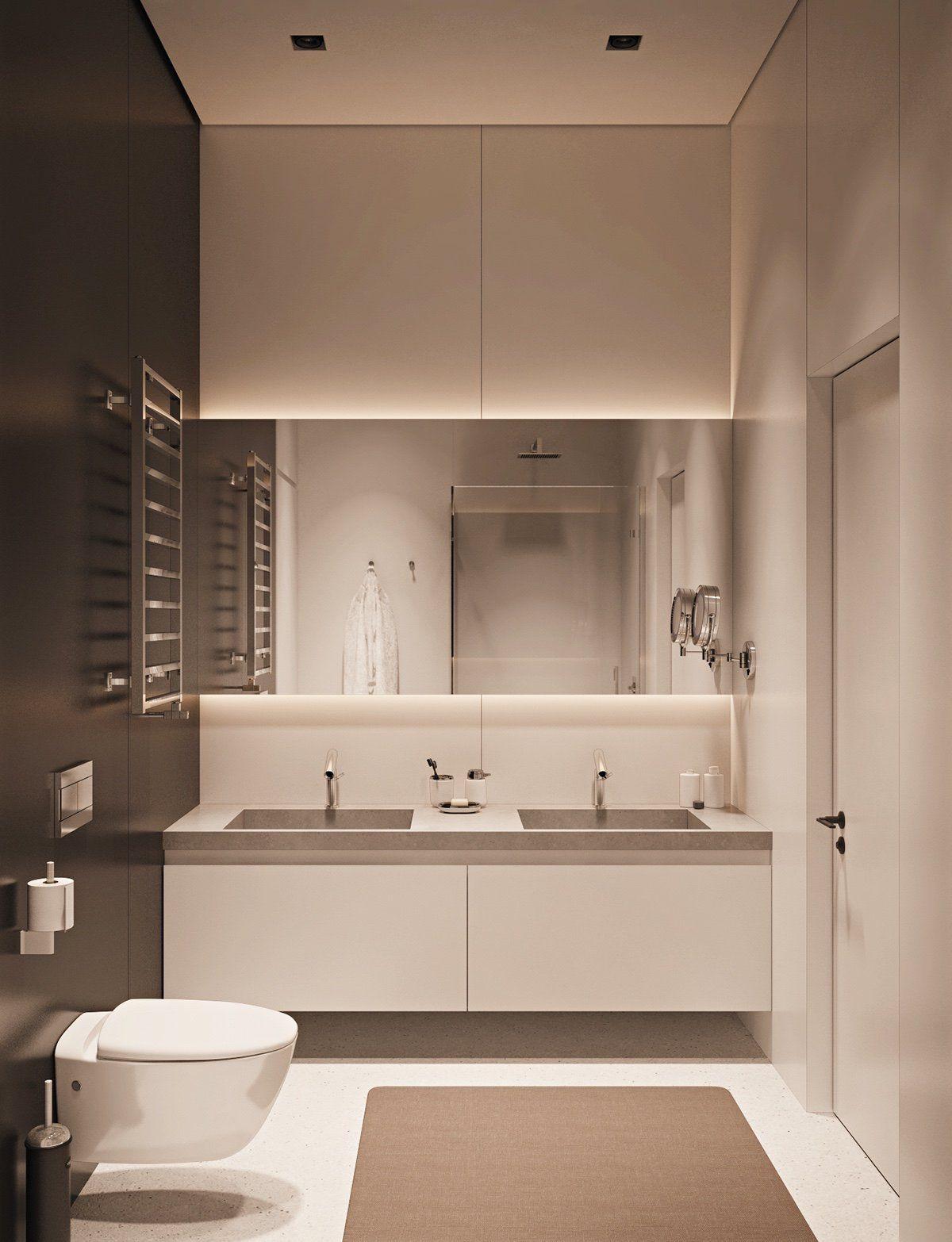 Homedesigning Small Space Luxury Three Modern Apartments Under 40 Square Met Projeto Moderno Para Casa De Banho Banheiro Estilo Moderno Projeto Do Banheiro
