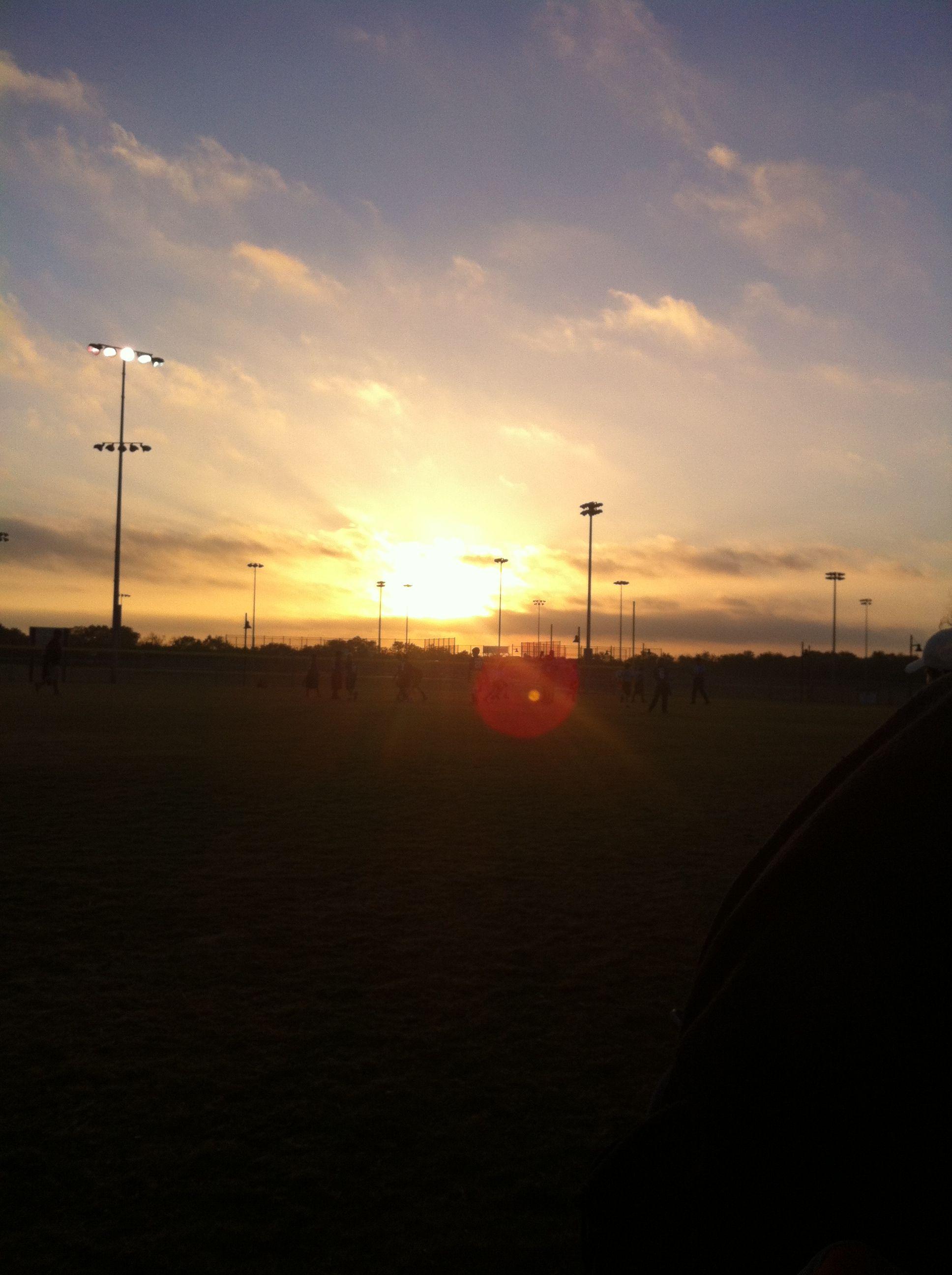 Football in the sunrise!