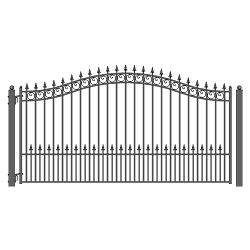 Steel Single Swing Driveway Gate Prague Style 12 X 6 Ft Aleko Fence Gate Driveway Fence Wrought Iron Gate Designs