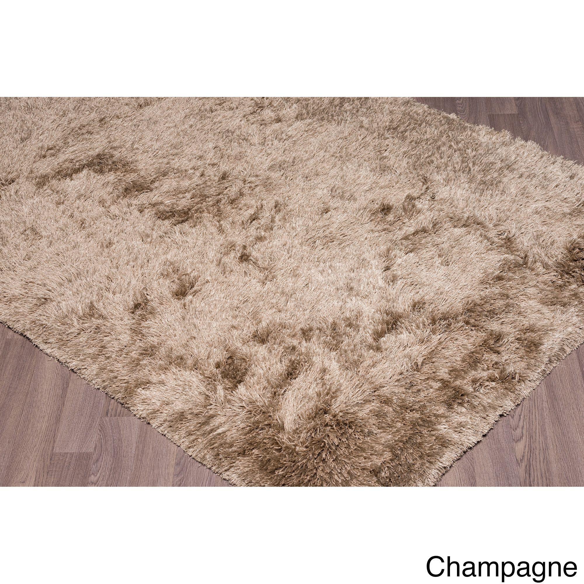 "Super Soft Plush Shag Rug (5'x7'.6"") (Moderna 5x7.6_Champange), Beige, Size 5' x 7'6"" (Cotton, Solid)"