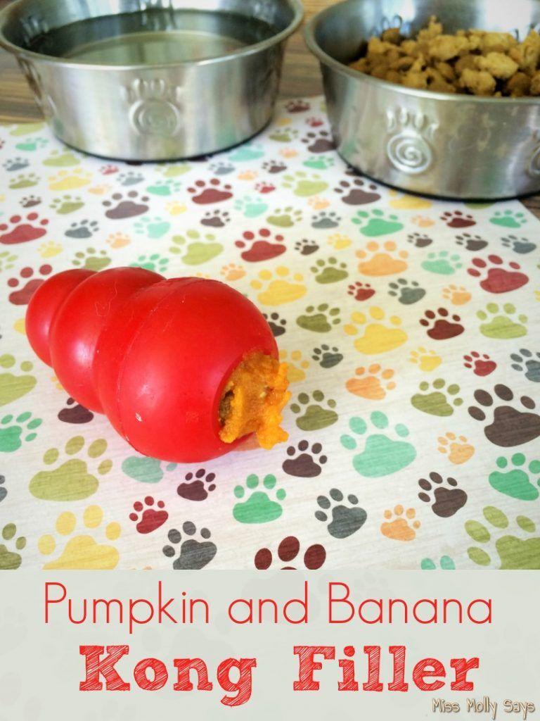 Homemade pumpkin and banana kong filler recipe