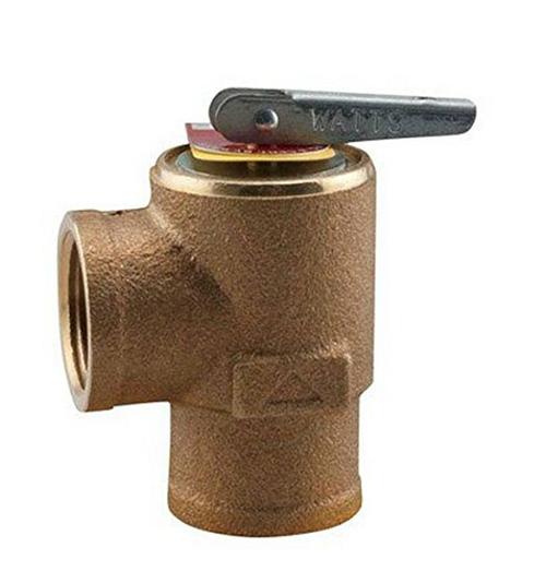 Watts 335 Boiler Pressure Relief Valve, 3/4Inch Relief