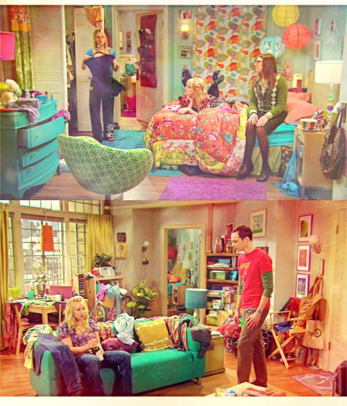 Colorful Room Decor: Penny's Apartment On Big Bang: I Love All The Colors