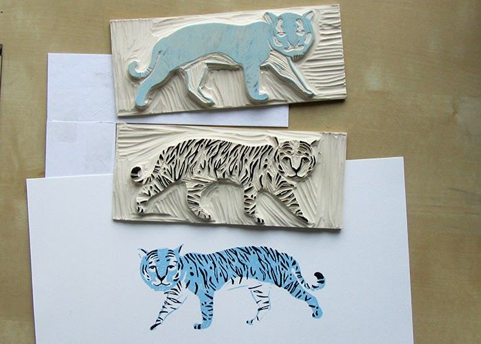 Andrea Lauren Printmaking Process 112 Linocut Prints