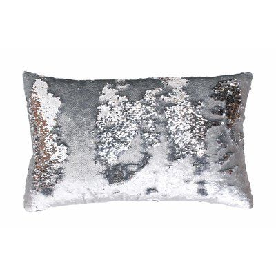 Saltash Throw Pillow Sequin Throw Pillows Mermaid Throw Pillows Silver Pillows