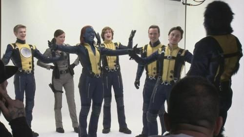 Cast Goofing Around On The Set Of X Men First Class X Men Actors Comic Villains