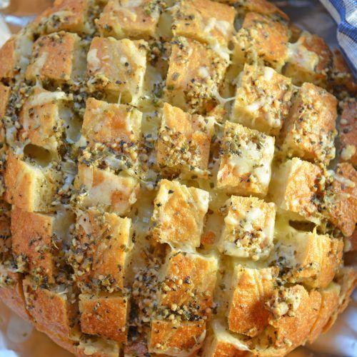 Pull Apart Cheesy Garlic Bread