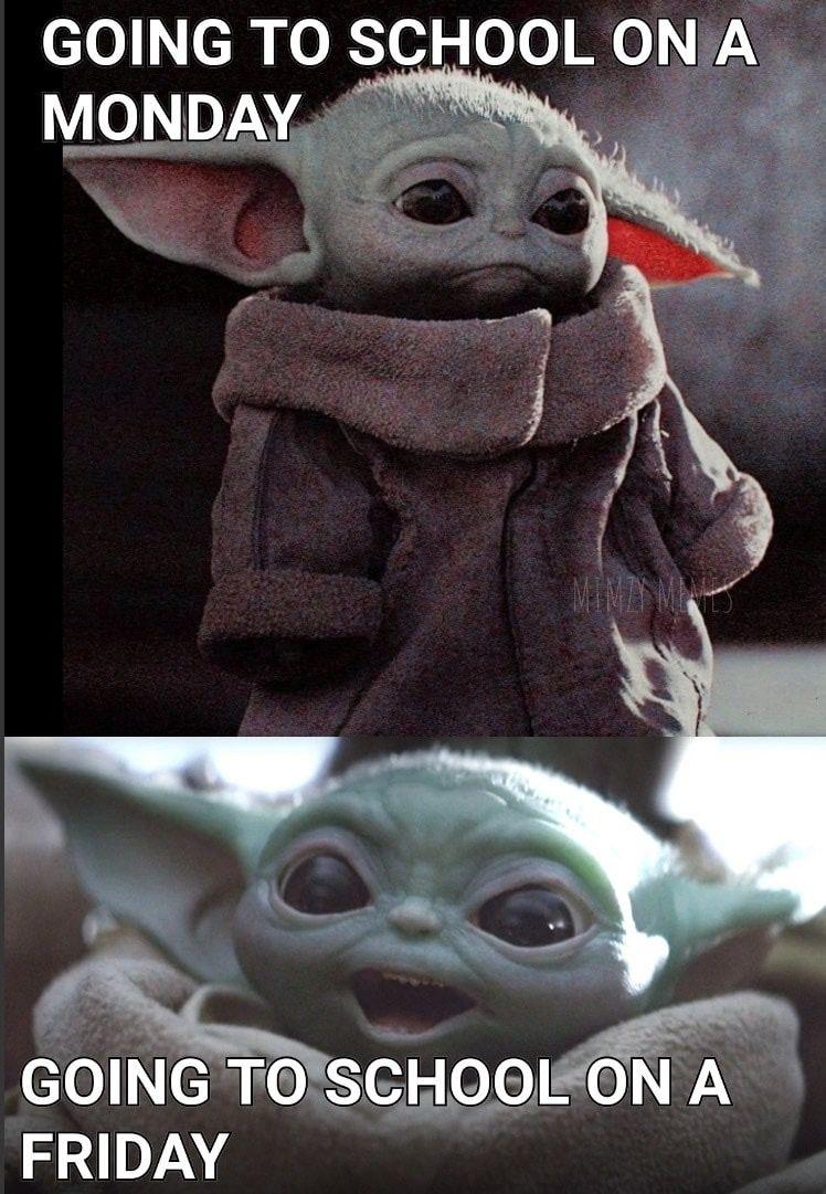 Baby Yoda School Daze Yoda Funny Yoda Wallpaper Star Wars Humor