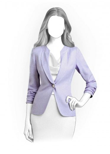Blazer sewing pattern These are FREE printable .pdfs of custom sized ...