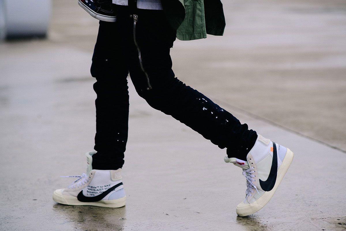 cheap for discount ee7a6 6a6e8 OFF WHITE Nike SB Blazer | Nike SB Sneakers | White nikes ...