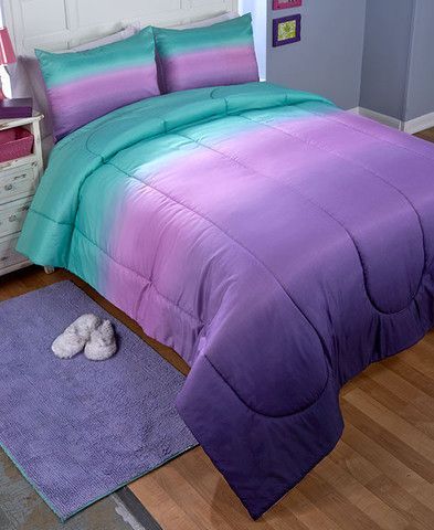 Comforter Sets Room, Purple And Teal Ombre Bedding