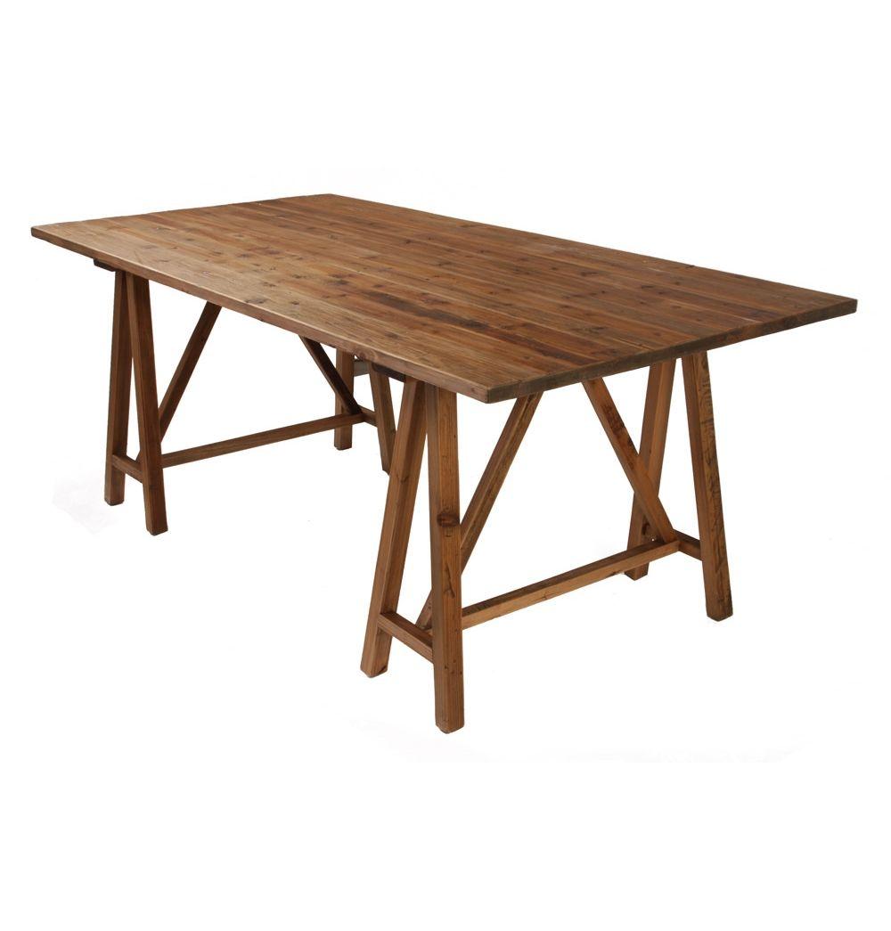 Trestle Dining Table 200 X 100 Matt Blatt With Images Dining
