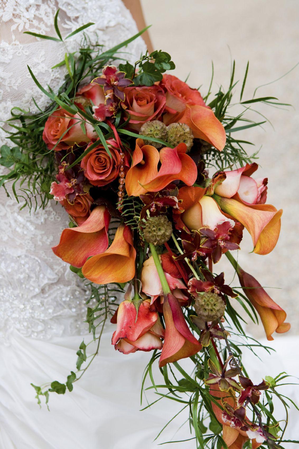 cascading wedding bouquets iStock Cascading Bridal