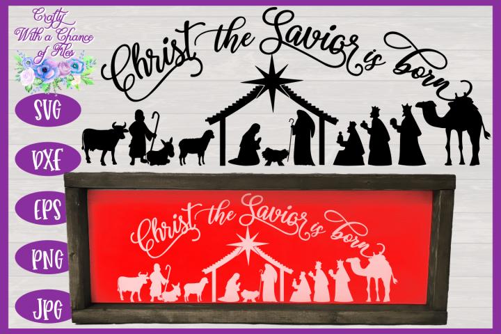 Christmas Svg Christ The Savior Is Born Svg Nativity Svg 149962 Svgs Design Bundles Christmas Svg Christmas Svg Files Christmas Nativity