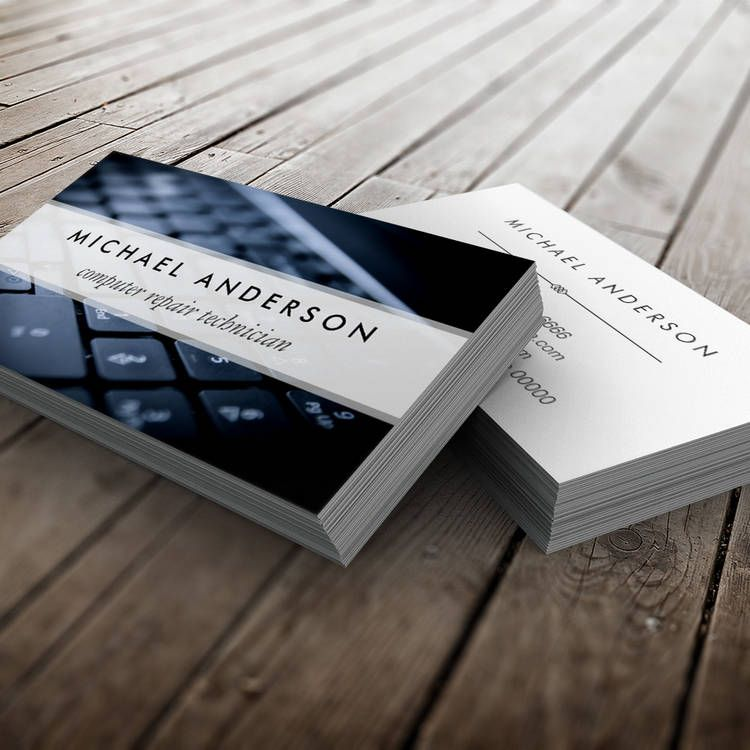 Desktop Laptop Computer Repair Technician Business Card Zazzle Com Computer Repair Business Card Inspiration Custom Business Cards