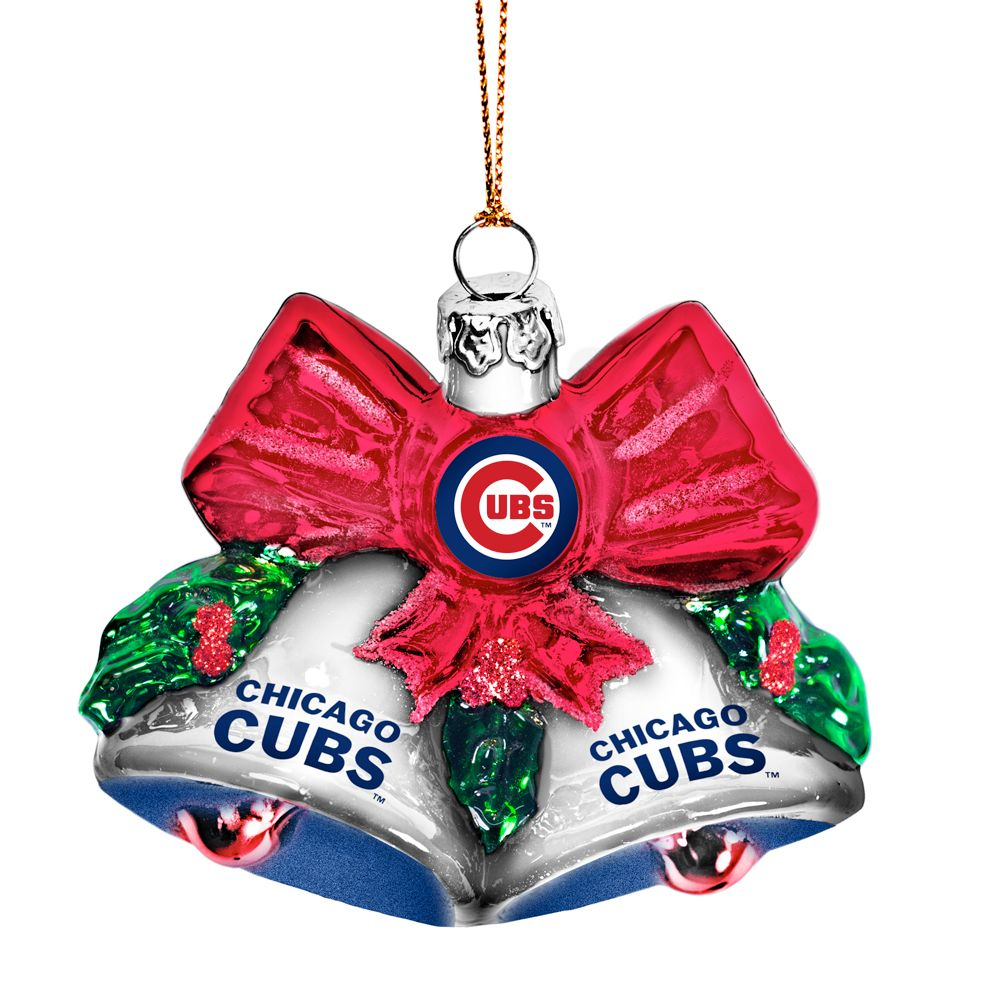 Cubs Christmas Ornaments.Chicago Cubs Glitter Bells Ornament By Boelter Holiday