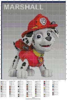 Pixeldeken Haken 100 Hokjes Paw Patrole Perler Pinterest