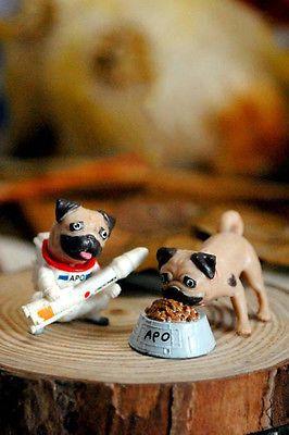 2pcs APO Pug Charm DIY Earring/Necklace/Phone Case Doll House/Craft Stuff Make
