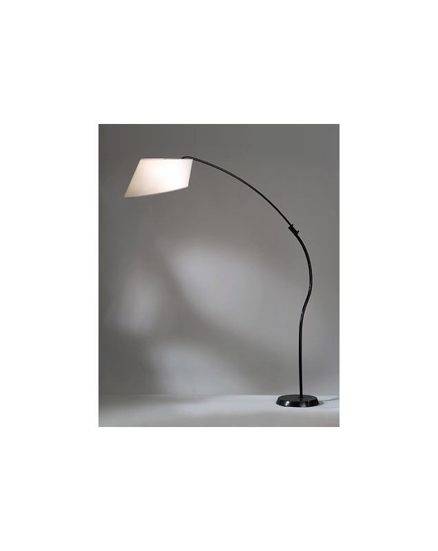 Nova Lighting 12017 84.5 Inch Transitional Arc Floor Lamp in White Finish with W Black / Black Marble Lamps Floor Lamps Arc Lamps