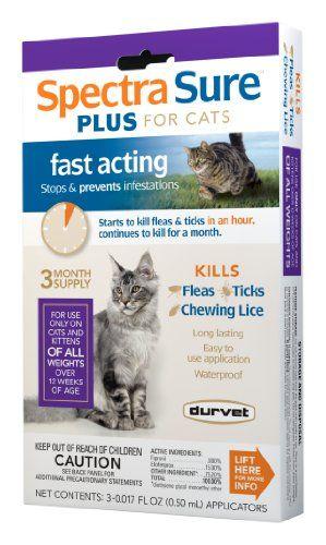 Durvet Spectra Sure Plus Flea Treatment For Cats Durvet Http Www Amazon Com Dp B007creb3q Ref Cm Sw R Pi Dp 7xuevb0gerp8j Pet Hacks Cats Cat Fleas