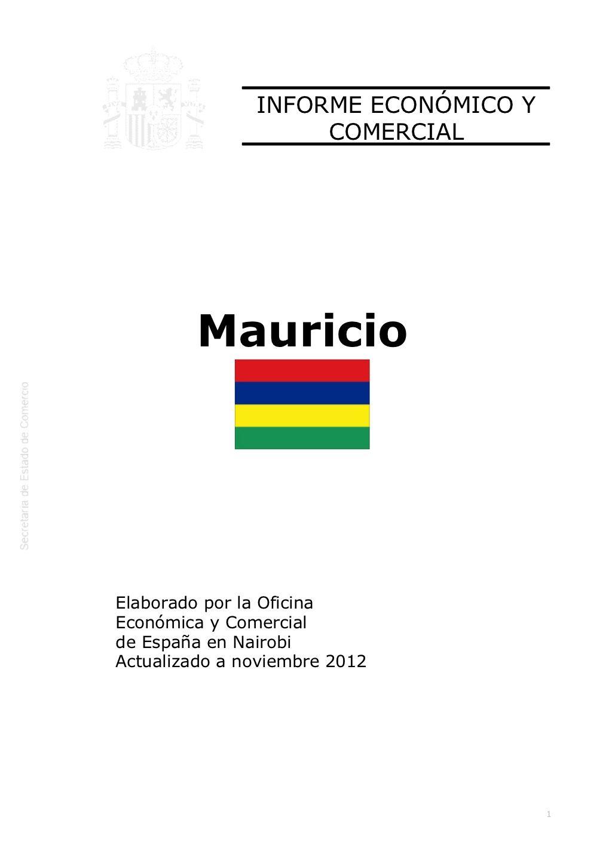 Informe económico y comercial. mauricio 2012