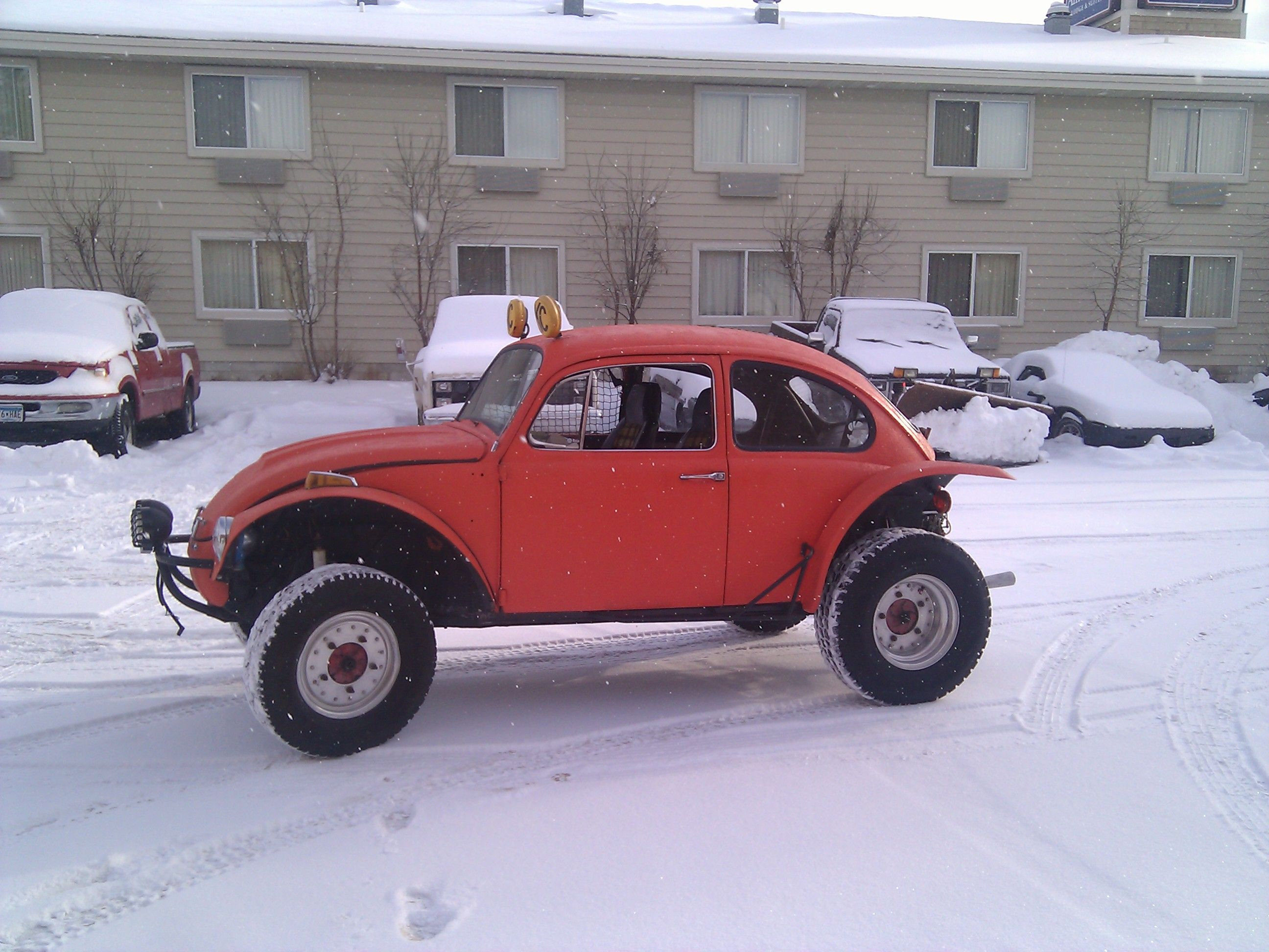 Baja Bug A Stock Is Great In The Snow Highly Modified With Off Road Tires And Engine Terrible Get On Throttle At All