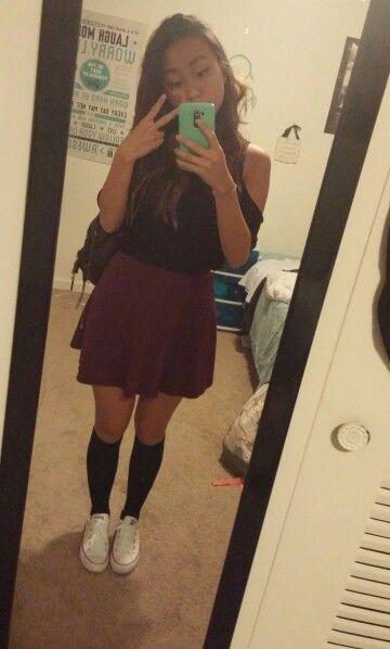 21bcfbd01bfa2a Maroon skirt