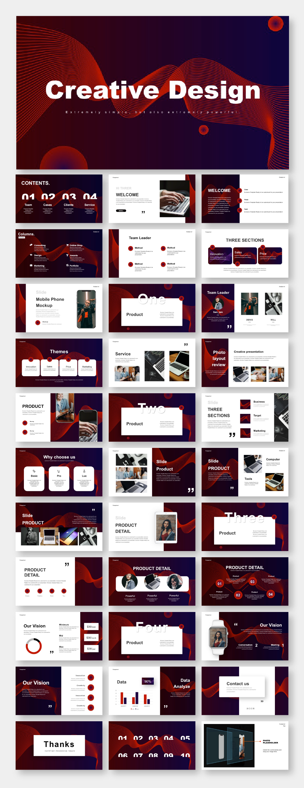 Annual Creative Business Presentation Template #powerpoint