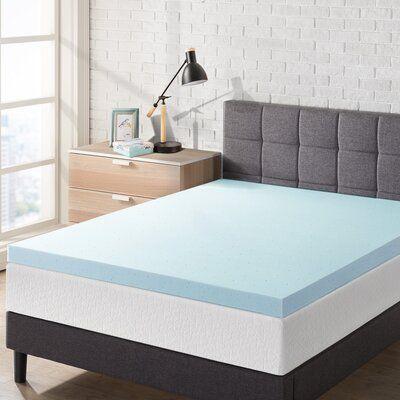 Alwyn Home 2 5 Gel Memory Foam Mattress Topper Bed Size Twin