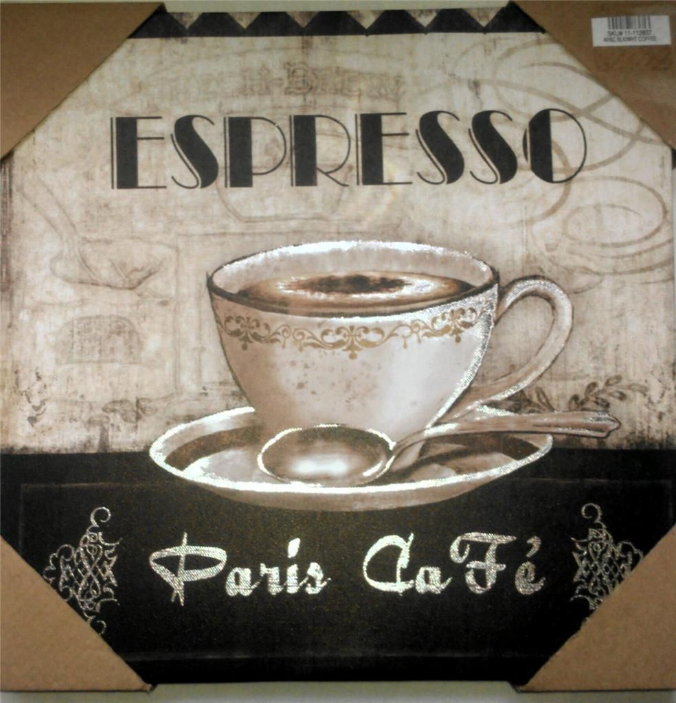 Kitchen Decor Themes Coffee coffee theme espresso paris cafe bistro canvas pictures home decor
