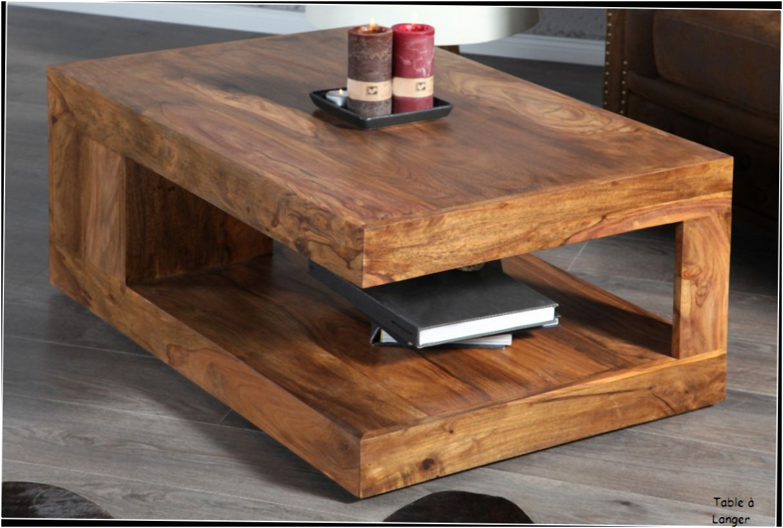 15 Decent Table Salon Bois Di 2020 Mebel Minimalis