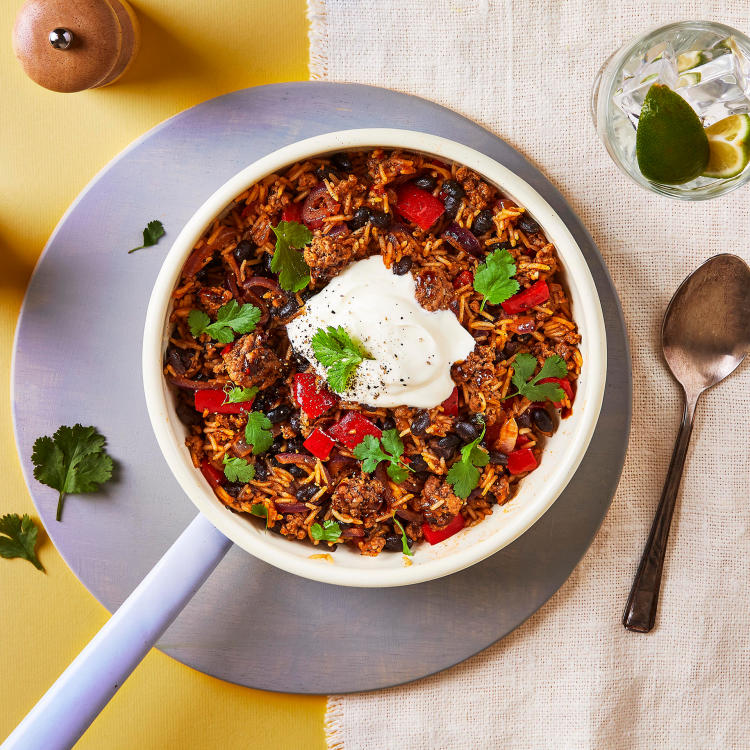 One Pot Mexican Beef Rice Beans Recipe In 2020 Bean Recipes Beef Recipes Recipes