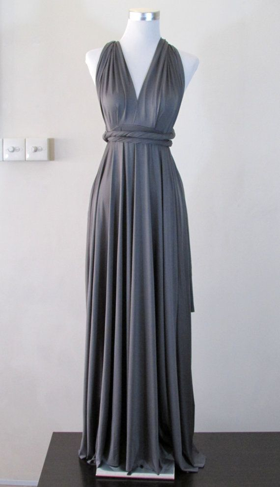 f0ae0c3ce1b Summer maxi dress Convertible Dress in Grey by HerBridalParty ...