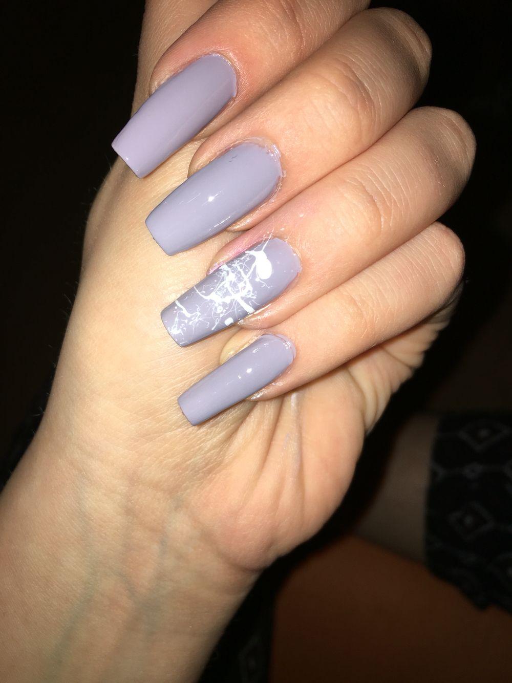 Graublau - weiß nageldesign | Nails / Nägel ✨ | Pinterest | Nails ...
