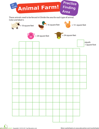 Practice Finding Area #1: Animal Farm | All Things Homeschooling ...