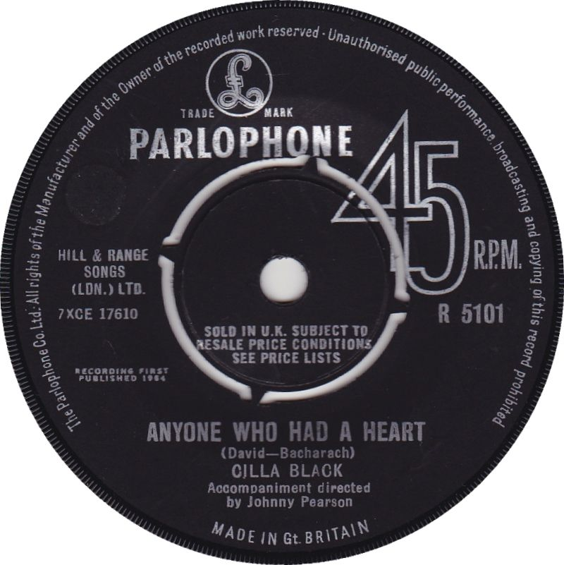 Cilla Black Anyone Who Had A Heart 7 Vinyl 45rpm In Stock Now Vinyl Records For Sale Shirley Bassey All Songs